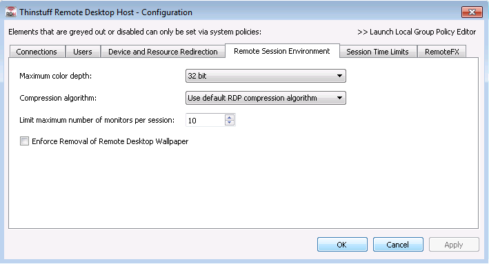 Remote Desktop Host - Thinstuff