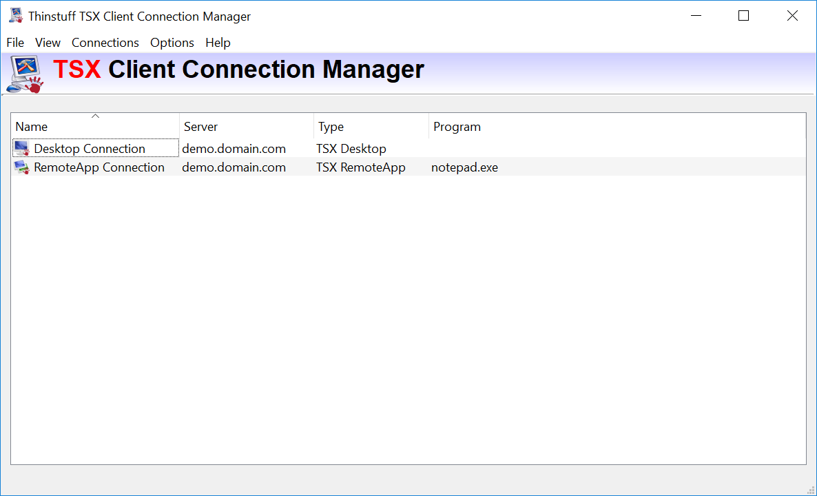 TSX Client Connection Manager